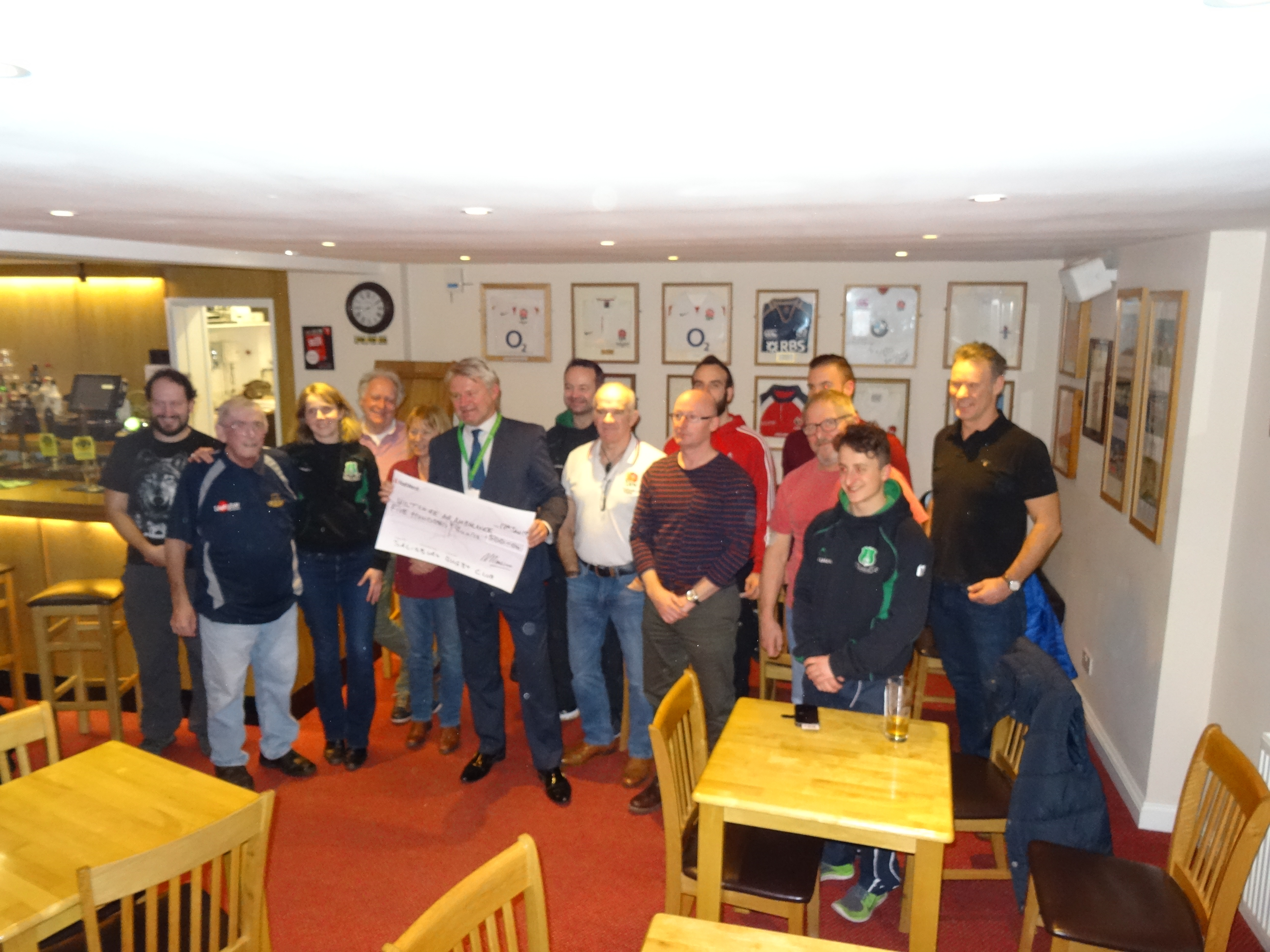 Cheque to Wiltshire Air Ambulance