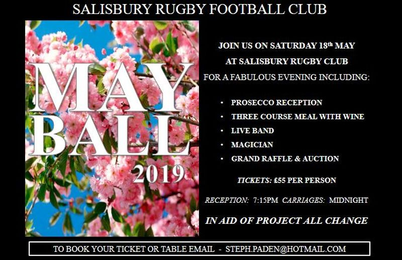 2019 May Ball - Be quick. It will sell out